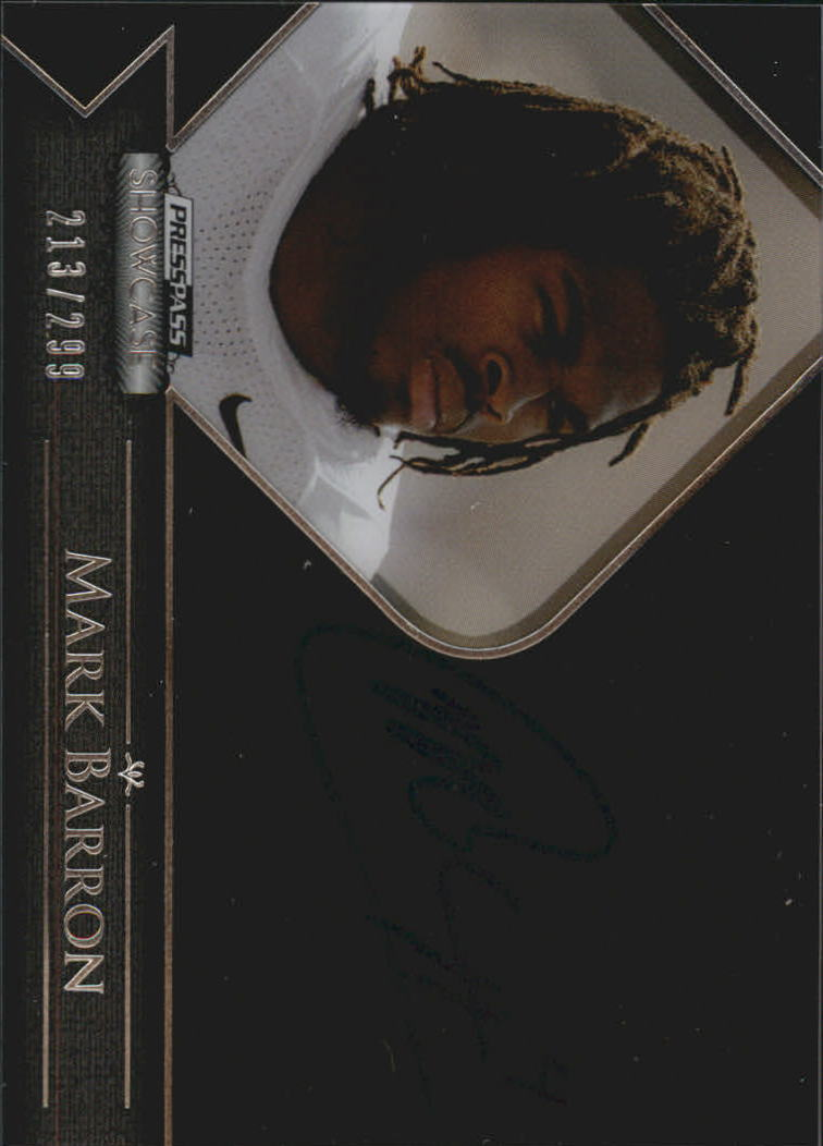 2012 Press Pass Showcase #SCMB Mark Barron/299