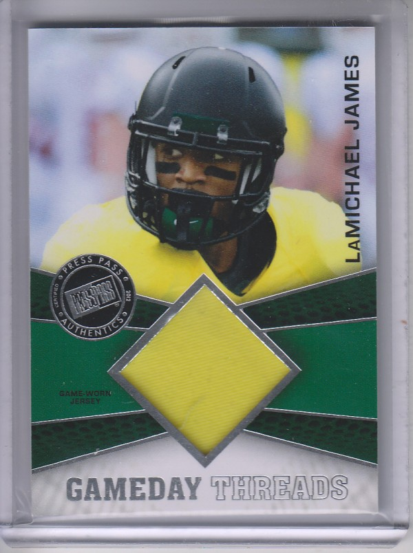2012 Press Pass Showcase GameDay Threads Silver #GDTLJ LaMichael James