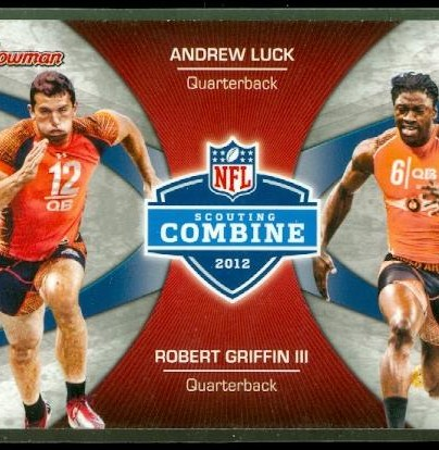 2012 Bowman Combine Competition #CCLG Andrew Luck/Robert Griffin III