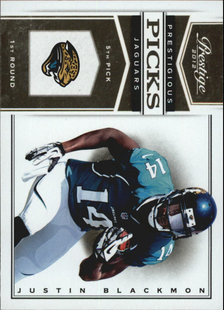 2012 Prestige Prestigious Picks #4 Justin Blackmon