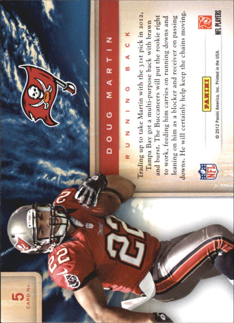 2012 Prestige Draft City Destination #5 Doug Martin back image