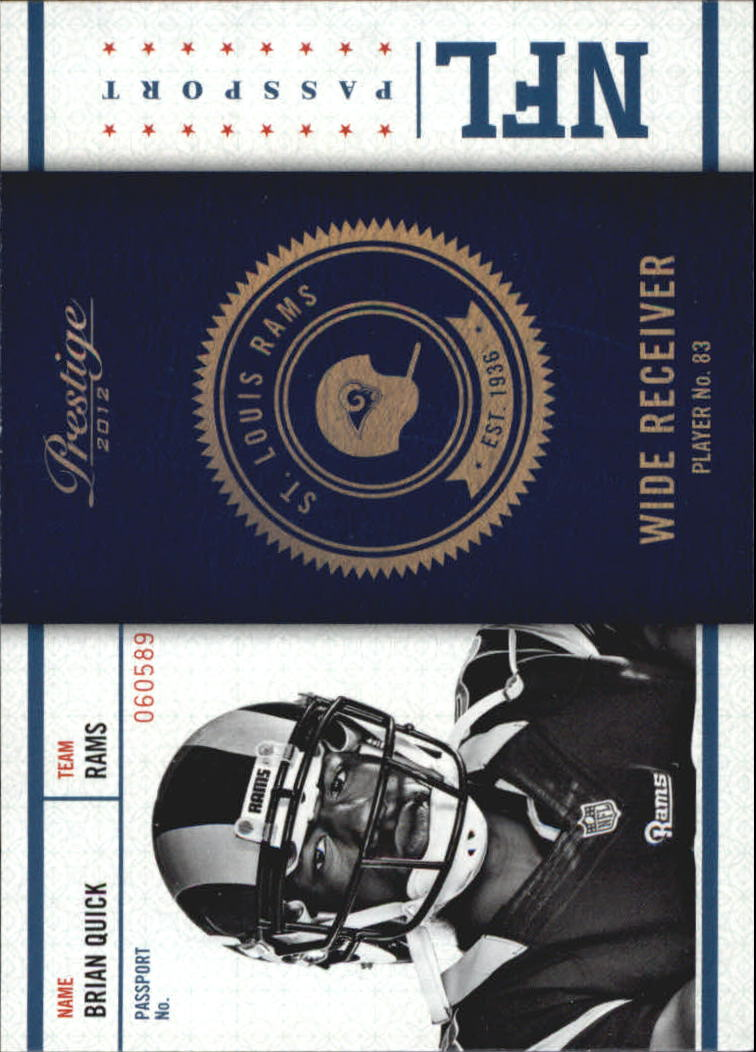 2012 Prestige NFL Passport #14 Brian Quick