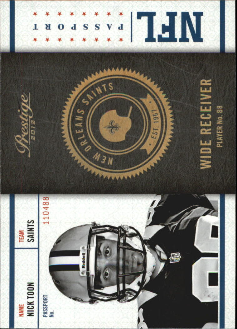2012 Prestige NFL Passport #27 Nick Toon
