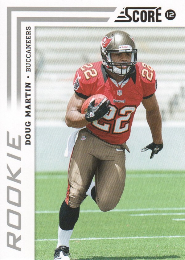 2012 Score #328A Doug Martin RC/(run pose)