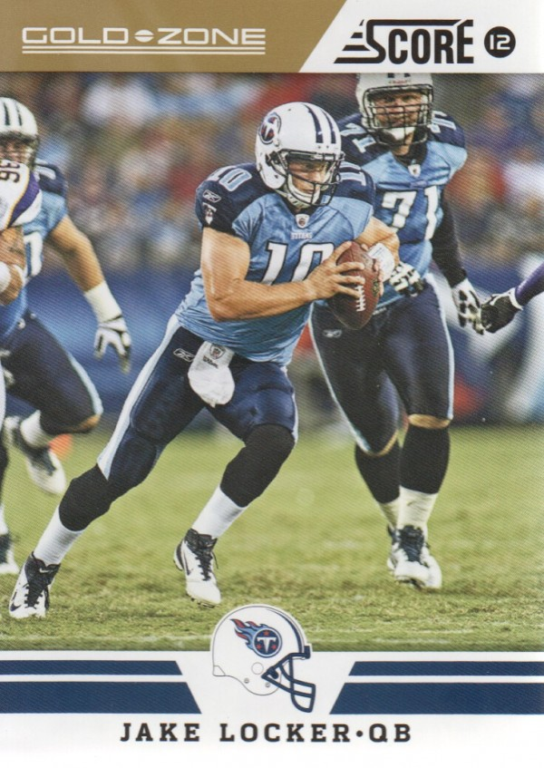 2012 Score Gold Zone #209 Jake Locker