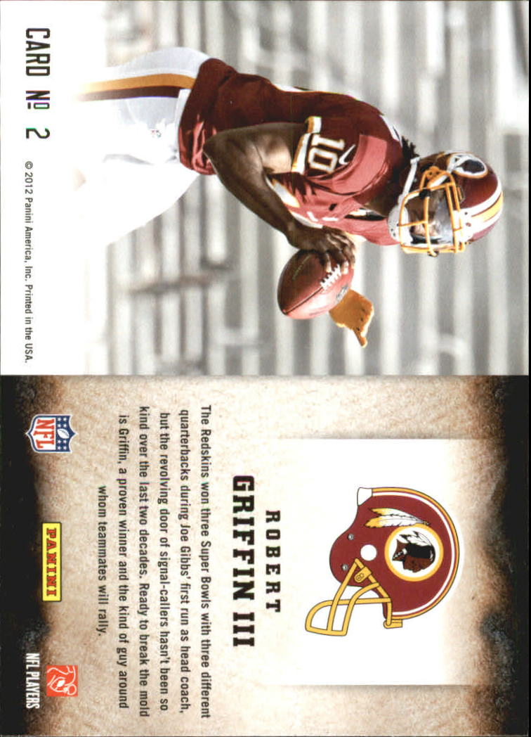 2012 Score Hot Rookies #2 Robert Griffin III back image