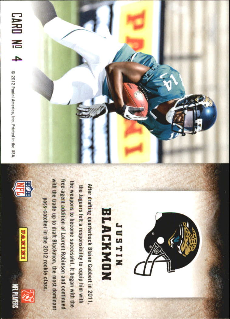 2012 Score Hot Rookies #4 Justin Blackmon back image