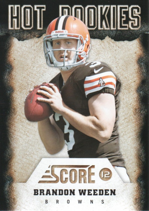 2012 Score Hot Rookies #8 Brandon Weeden