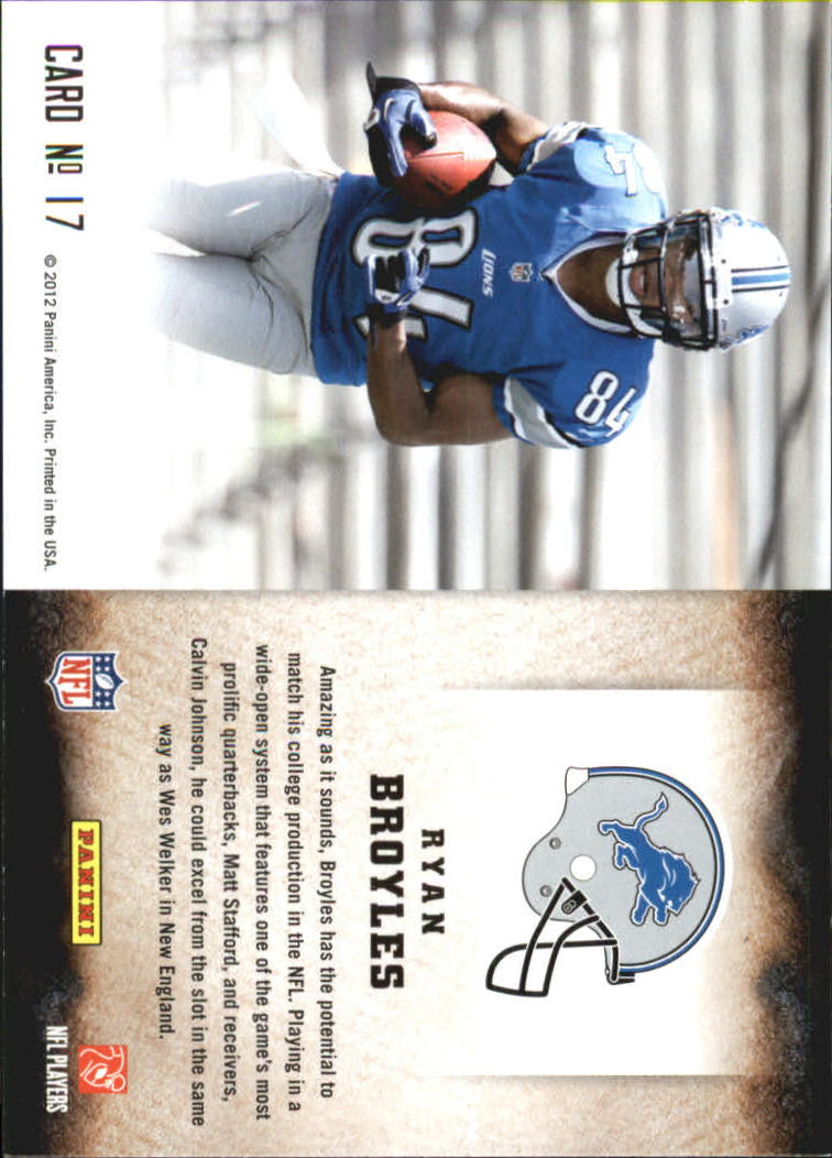 2012 Score Hot Rookies #17 Ryan Broyles back image