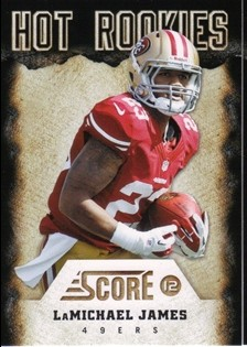 2012 Score Hot Rookies #19 LaMichael James front image