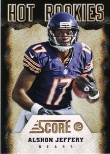 2012 Score Hot Rookies #26 Alshon Jeffery
