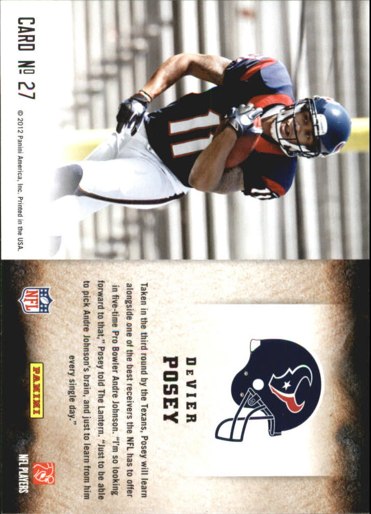 2012 Score Hot Rookies #27 DeVier Posey
