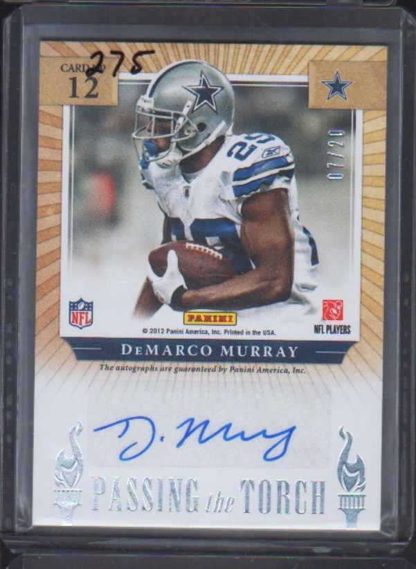 2012 Elite Passing the Torch Autograph #12 Emmitt Smith/20 /DeMarco Murray