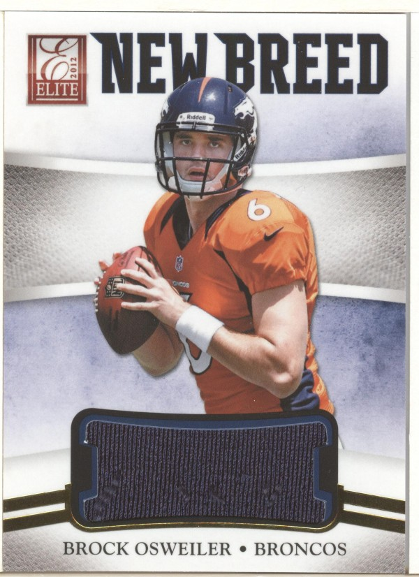 2012 Elite New Breed Jerseys #18 Brock Osweiler/399