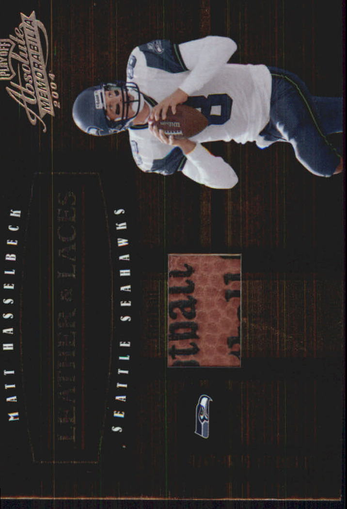 2004 Absolute Memorabilia Leather and Laces #LL16 Matt Hasselbeck