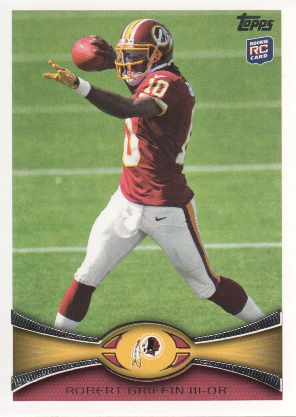 2012 Topps #340A Robert Griffin III RC/(passing pose)