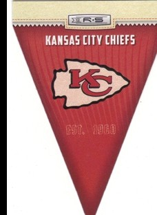 2012 Rookies and Stars NFL Team Pennant #16 Kansas City Chiefs