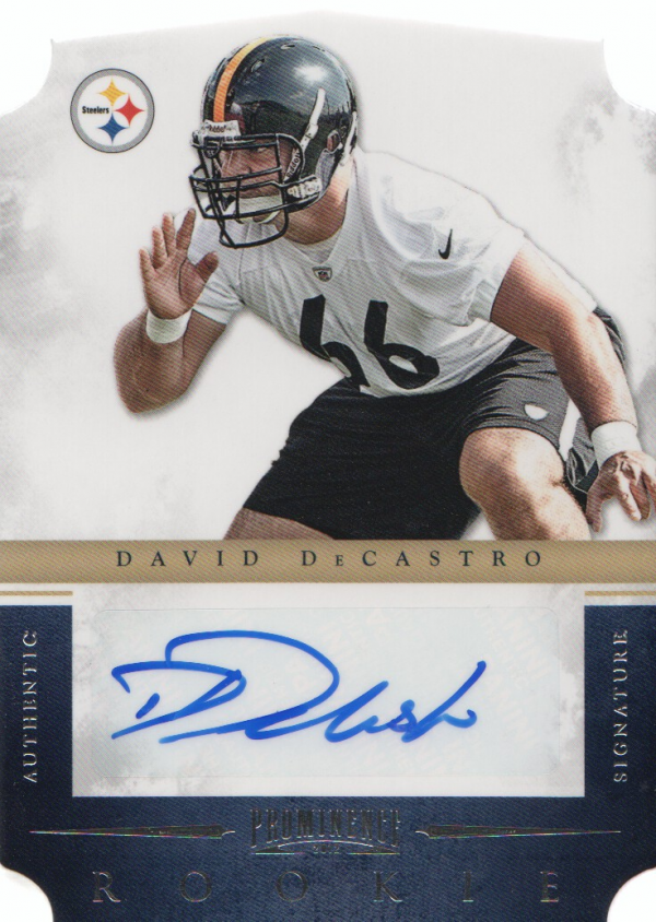 2012 Panini Prominence #166 David DeCastro AU/349 RC