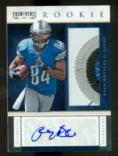 2012 Panini Prominence #225 Ryan Broyles JSY AU/245 RC EXCH