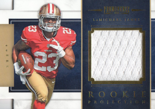2012 Panini Prominence Rookie Projection Materials #12 LaMichael James