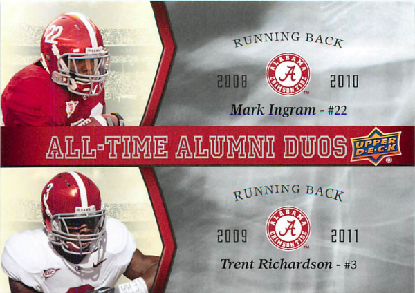 2012 Upper Deck Alabama All Time Alumni Duos #ATADIR Mark Ingram/Trent Richardson