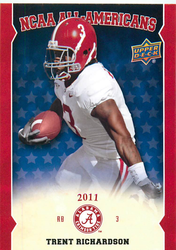 2012 Upper Deck Alabama All Americans #AATR Trent Richardson