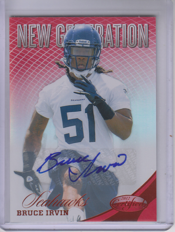 2012 Certified Mirror Red Signatures #256 Bruce Irvin/350