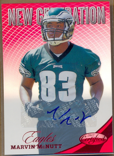 2012 Certified Mirror Red Signatures #290 Marvin McNutt/250