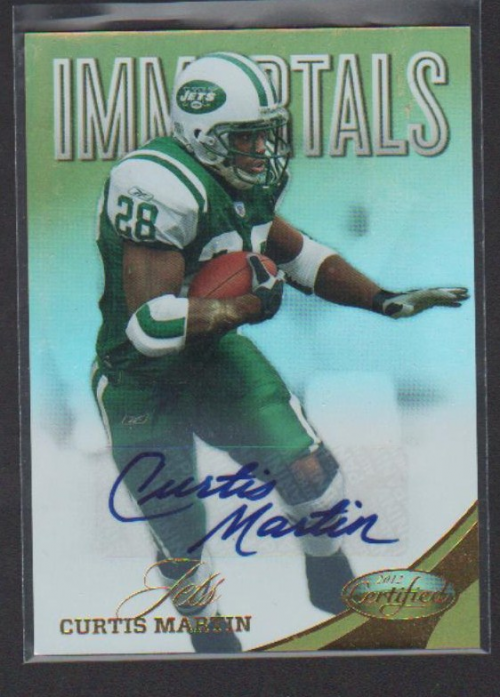 2012 Certified Mirror Gold Signatures #165 Curtis Martin/25