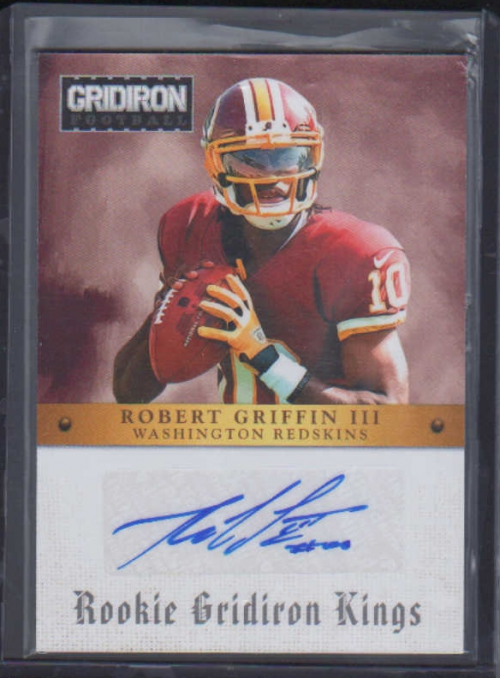 2012 Gridiron Rookie Gridiron Kings Autographs #2 Robert Griffin III