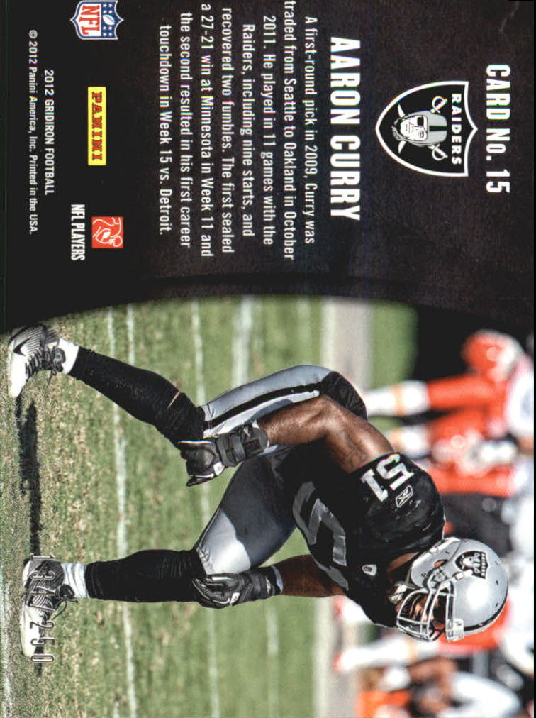 2012 Gridiron Crash Course Silver #15 Aaron Curry