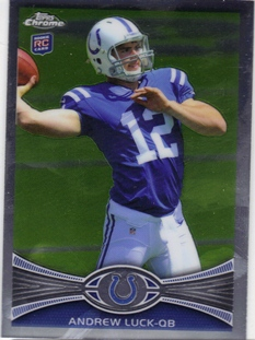 2012 Topps Chrome #1A Andrew Luck RC/passing pose