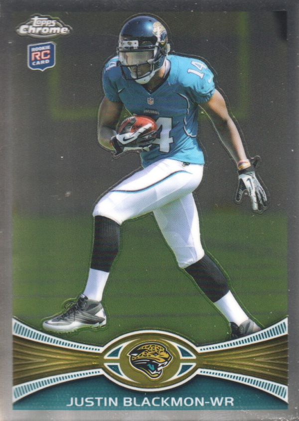 2012 Topps Chrome #13A Justin Blackmon RC/cutting left