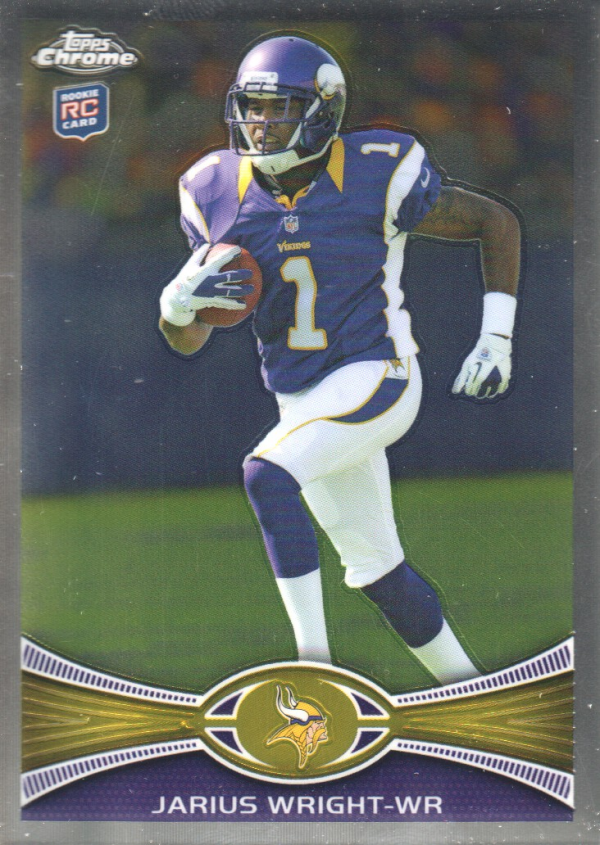 2012 Topps Chrome #203 Jarius Wright RC