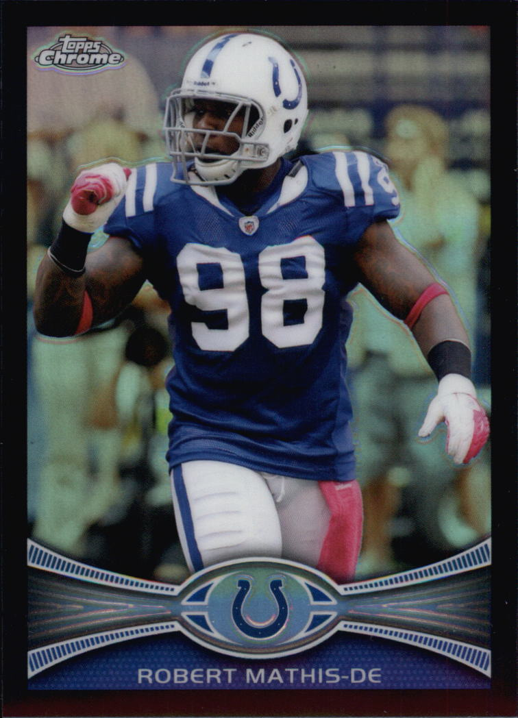 2012 Topps Chrome Black Refractors #5 Robert Mathis