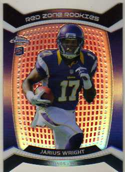 2012 Topps Chrome Red Zone Rookies Refractors #RZDC35 Jarius Wright