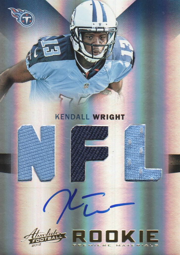 2012 Absolute #218 Kendall Wright JSY AU RC
