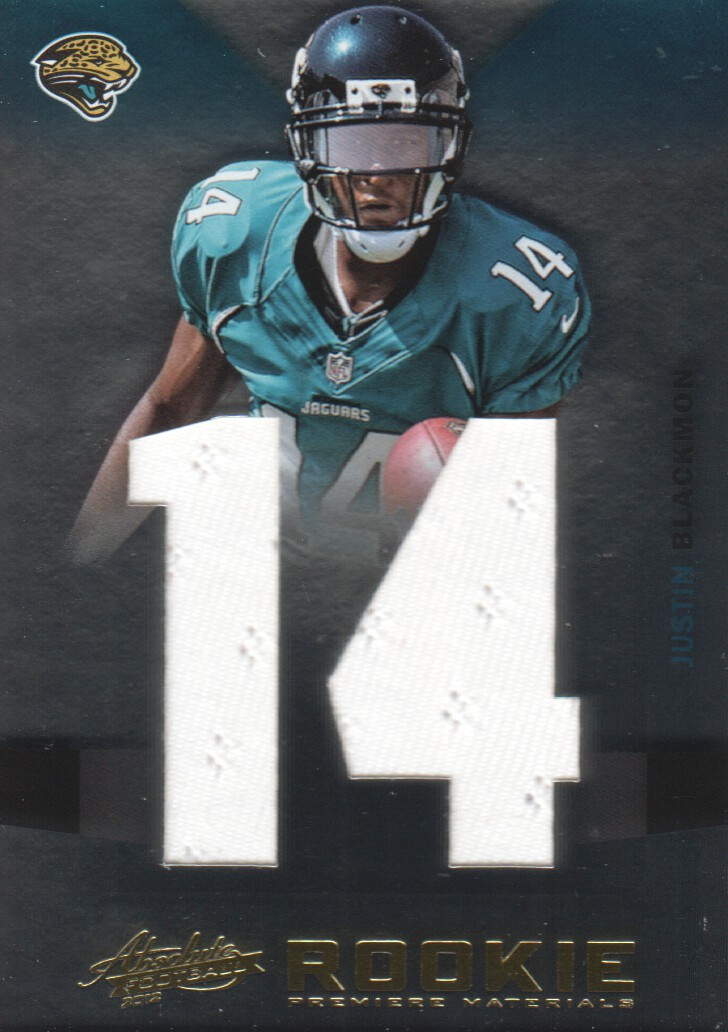 2012 Absolute Rookie Premiere Materials Oversize Jersey Number #217 Justin Blackmon/50
