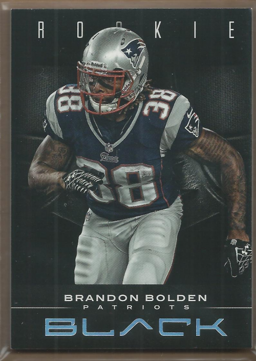 2012 Panini Black #108 Brandon Bolden RC