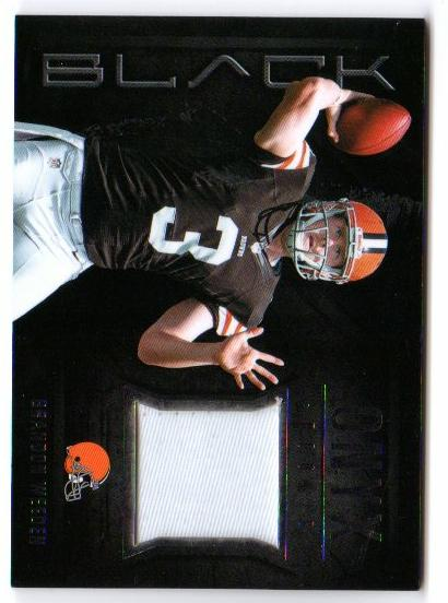 2012 Panini Black Onyx Rookie Materials Prime #6 Brandon Weeden