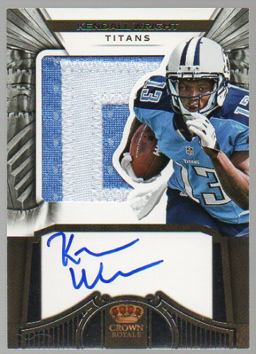2012 Crown Royale #268 Kendall Wright JSY AU/249 RC