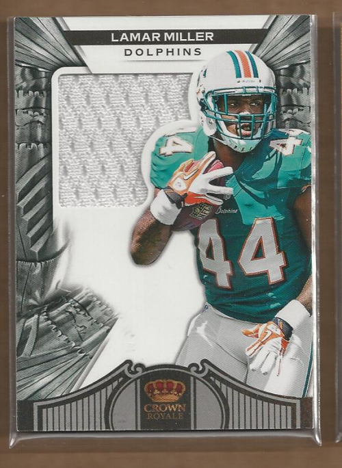 2012 Crown Royale Retail #269 Lamar Miller JSY RC