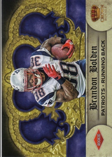 2012 Crown Royale Retail #246 Brandon Bolden RC