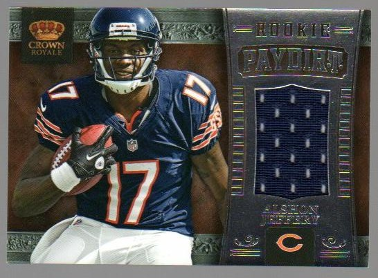 2012 Crown Royale Rookie Paydirt Materials #2 Alshon Jeffery