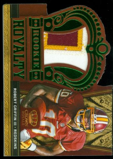 2012 Crown Royale Rookie Royalty Materials Green Prime #26 Robert Griffin III