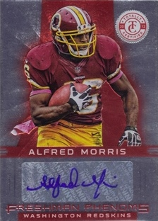 2012 Totally Certified #101 Alfred Morris AU/290 RC