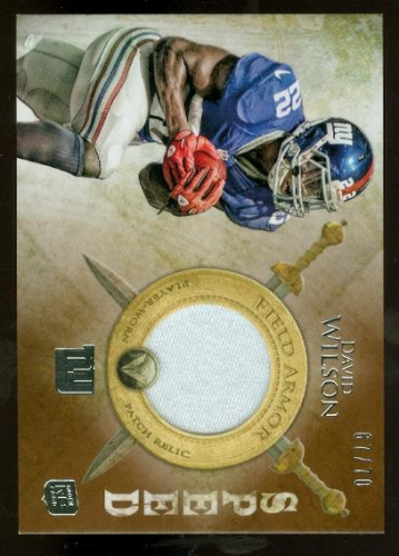 2012 Topps Valor Field Armor Patches Speed #FAPDW David Wilson