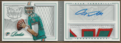 2012 Panini Playbook #207 Ryan Tannehill JSY AU RC