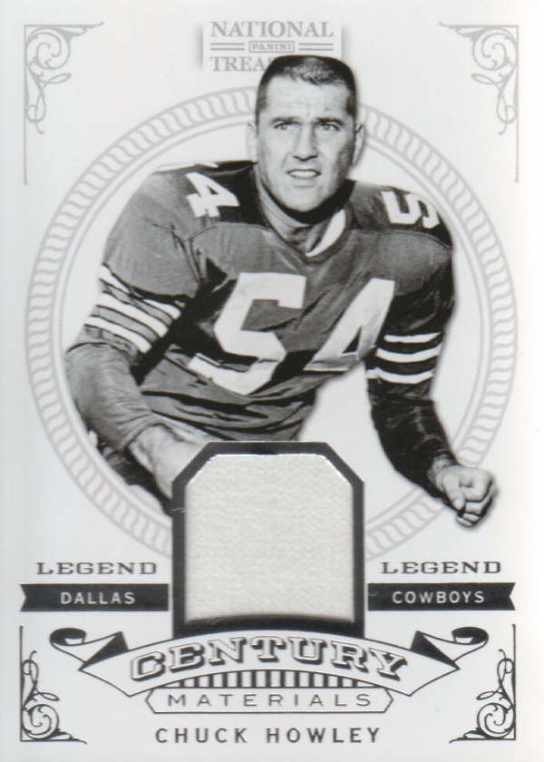 2012 Panini National Treasures Legend Century Materials #10 Chuck Howley/99