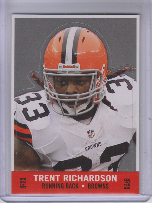 2013 Topps Archives 1968 Stand-Ups #68SUTR Trent Richardson